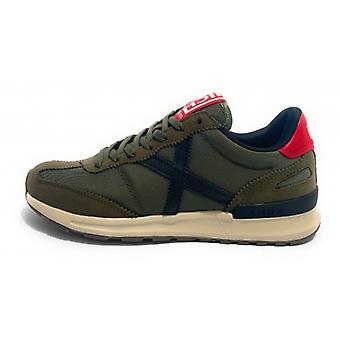 Scarpe Munich Sneaker Running Dynamo 20 Pelle Scamosciata/ Tessuto Verde Army U21mu08