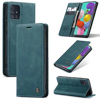Retro Wallet Slim for Samsung A51 Blue