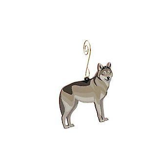 Grey Wolf Ornament #9912