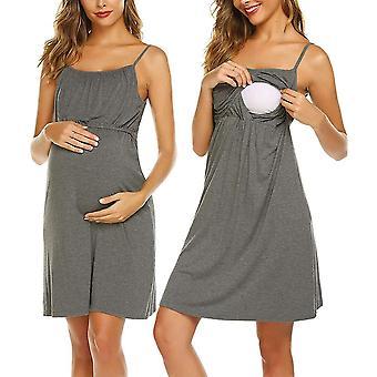 Women's Nursing Nightgown Maternity Dress, Breastfeeding Sleepwear