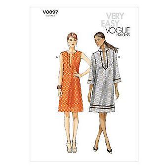 Vogue coser patrón 8897 se pierde holgada ajuste pullover vestido tamaño L-XXL