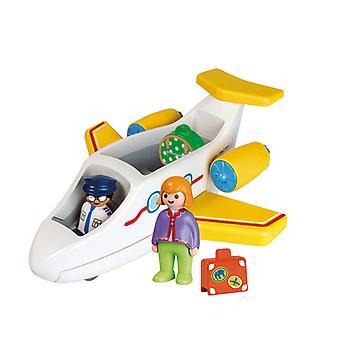 Playmobil 1.2.3 Lentokone matkustajan kanssa
