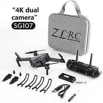 Sg107 wifi drone 4k profesional dual kamera yksi kamera taittovarsi kiinteä korkeus sovellus kaukosäädin quadcopter säilytyslaukku