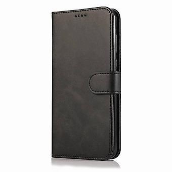 iPhone XS Maxのためのシンプルな革フォリオケース - ブラック