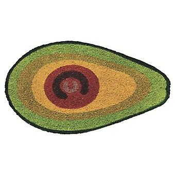 foot mat avocado 40 x 70 cm coconut fibre/PVC green