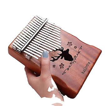 17 Keys Kalimba Thumb Piano Deer Head Hollow Musical Instrument For Beginners