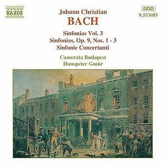 J.C. Bach - Bach: Sinfonias Vol. 3 [CD] USA import