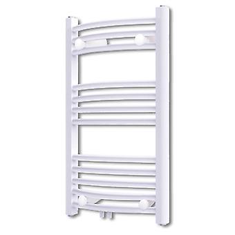 Badkamer radiator handdoek rail gebogen 500×764mm zij/midden aansluiting