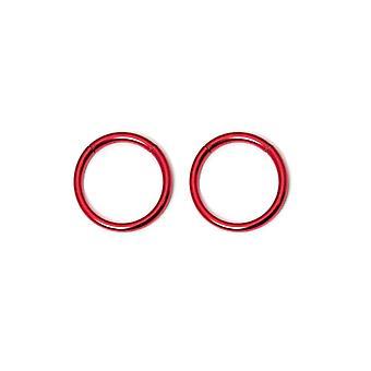 سلس حلقة الجزء 2pc طوق حلقات الحاجز الأنف الأنف الحلزون الحلمة daith 16g 10mm