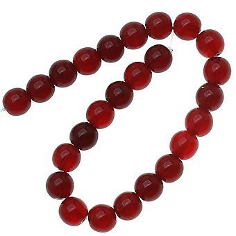 Tšekin lasi Druk Pyöreät läjät 8mm Ruby Punainen (25)