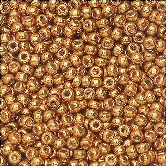 Круглые бусины Miyuki, размер 11/0, 8,5 граммовая трубка, #4203 оцинкованное желтое золото Duracoat