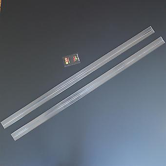 (2x) 1150mm low profile flexible living hinges