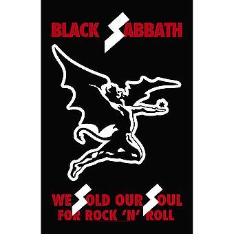 Black Sabbath Poster We Sold Our Souls Official 70cm x 106cm Textile Flag