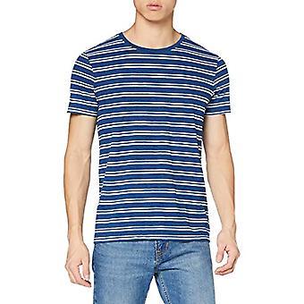 Tom Tailor Indigo Streifen T-Shirt, 24748/Stri Indigo Blu Medio, XL Men's