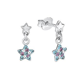 Princess Lillifee children of handmade earrings in the shape of a star, in silver 925 multicolored rhodium - 2013176