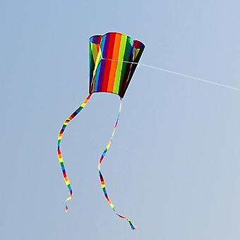 Rainbow Parafoil kite med haler, Soft Flying