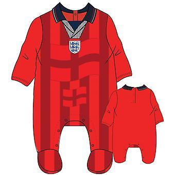 Englanti Jalkapallo 1998 Retro Baby Sleepsuit