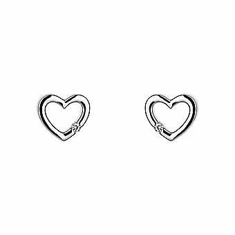 Avec amour - Cœur tendre - Icônes Boucles d'oreilles - Argent - Bijoux cadeaux pour femmes de Lu Bella