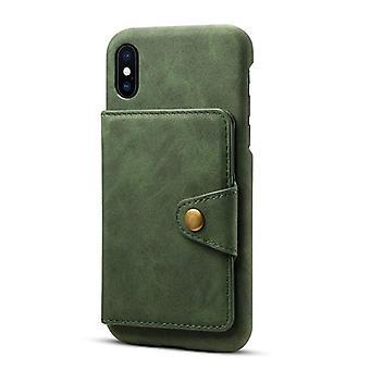 חריץ לכרטיס מארז מעור ארנק עבור Samsung Note9 ירוק כהה no4923