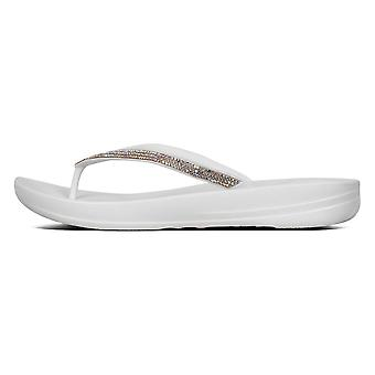 Fitflop™ White Iqushion™ Sparkle Ergonomische Teenslippers