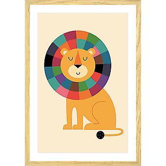 Poster Kind rainbow lion