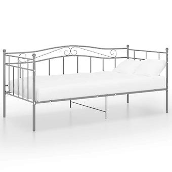 vidaXL Divano letto telaio grigio metallo 90x200 cm