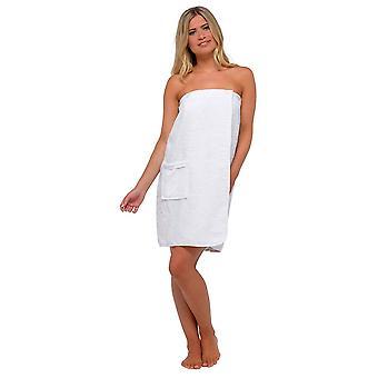 Mujer 100% algodón terry paño spa toalla de baño wrap