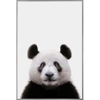 JUNIQE Print -  Panda - Kinderzimmer & Kunst für Kinder Poster in Schwarz & Weiß