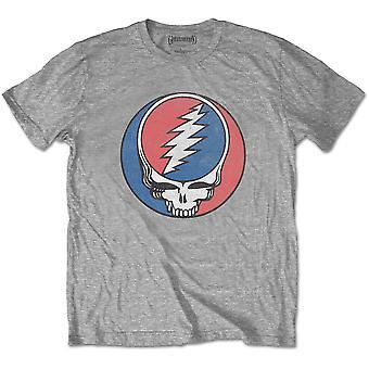 Grateful Dead - Steal Your Face Classic Men's Medium T-Shirt - Grey
