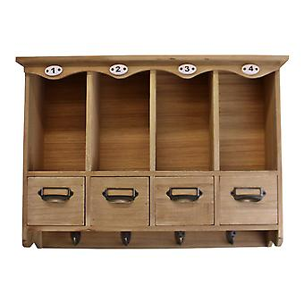 Wooden Wall Hanging Storage Unit