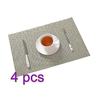 Set Of 4 Placemats Heat Resistant Dining Table Place Mats Kitchen Table Mats 30*45cm