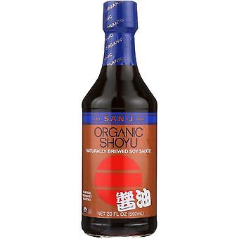 San J Sauce Soy Shoyu Bronze Or, Case of 6 X 20 Oz