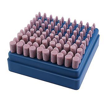 100pcs 3mm Abrasive Mandrel Mounted Grinding Polishing Tool (pink)