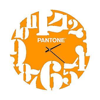 Montre Numbers, Couleur Orange, Blanc en Métal, L40xP0,15xA40 cm
