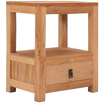 """שולחן vidaXL ליד המיטה 40 x 30 x 50 ס""""מ עץ מלא מעץ טיק"""