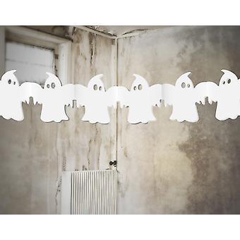 SISTE FÅ - Tissue Paper Ghost Garland Halloween Fest dekorasjon - 3m
