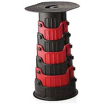 Kompakt teleskopisk pall bärbar infällbar fällbar sittplats för utomhus- och inomhusbruk Barn vuxna camping Vandring Fiske BBQ - Röd