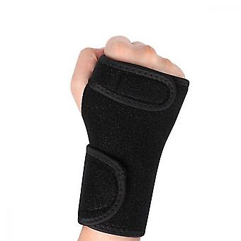 Carpal Tunnel Support, Adjustable Metal Right Hand Splint For Carpal Pain Relief Arthritis Sprain Martial Arts Exercise, Black
