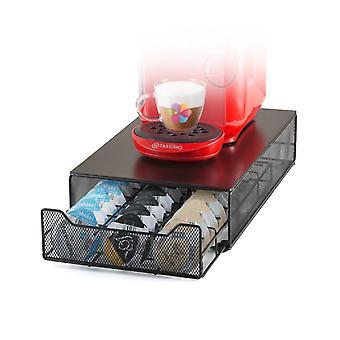 Tassimo Pods Holder Coffee Machine Metal Capsule Storage Drawer for 60 Pcs