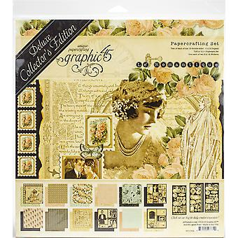 """Gráfico 45 Deluxe Collector's Edition Pack 12""""X12"""" - Le Romantique"""