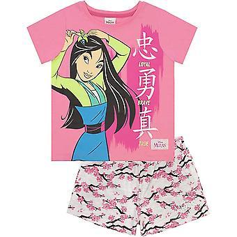 Mulan Girls Loyal Brave True Short Pyjama Set