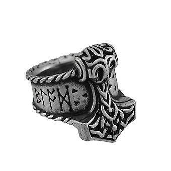 Alkymi Thor Rune Hammer Ring