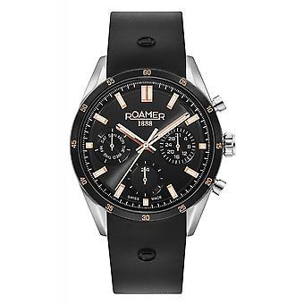 Roamer 508982 41 55 05 Men's Superior Day Date Rubber Strap Wristwatch