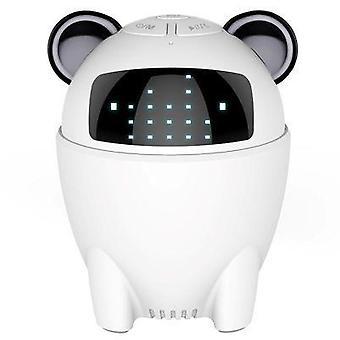 Wireless bluetooth smart speaker mini robot subwoofer(White)