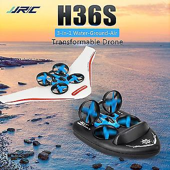 Remote control helicopters h36s 3in1 mini drone rc quadcopter/vehicle/hovercraft boat kids toy for sea land and air dron vs e58