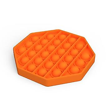 Push Pops Bubble sensorisches Spielzeug für besondere Bedürfnisse Autismus Anti-Stress (Octagon - Orange)