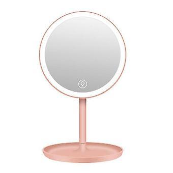 Specchio per il trucco 5X con specchio cosmetico a led 70 luci con supporto a batteria con interruttore dimmer touch