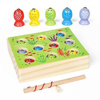 Wooden Magnetic Fun Fishing Toys Children Parent And Child Games