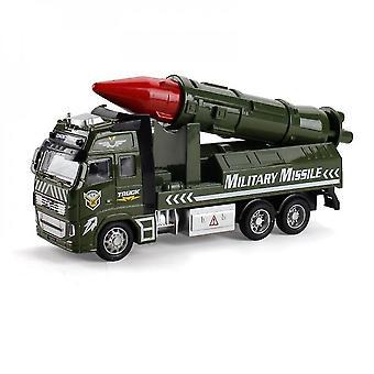 Die-turnat metal realist militar rachete camion jucărie
