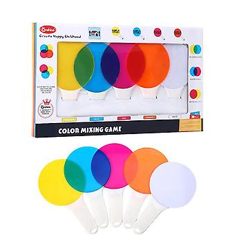 5pcs Kids Colour Paddles Translucent Mixing Lenses Primary Learning Tool